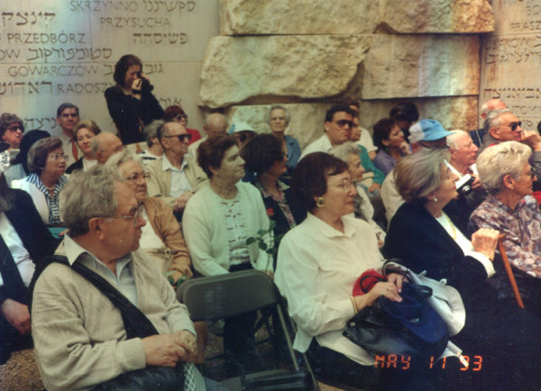 Spotkanie Żydów poznańskich, Jad Waszem, Dolina Zabitych Wspólnot, maj 1993 roku
