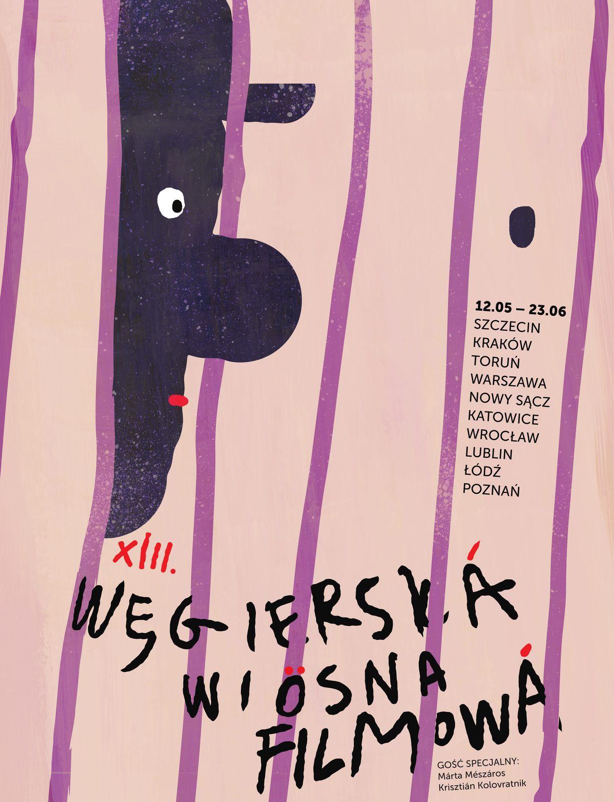 Plakat Festiwalu Węgierska Wiosna Filmowa 2019
