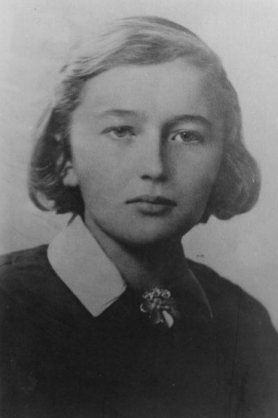 Irena Bobowska - zdjęcie szkolne. Ze zbiorów IPN.