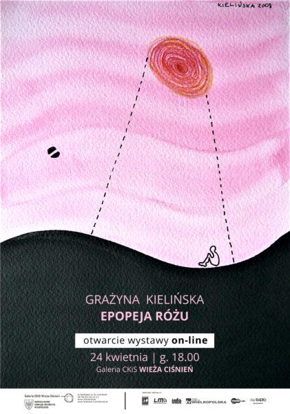 Plakat zapowiadający wystawę pt. Epopeja różu, fot. Materiały organizatora
