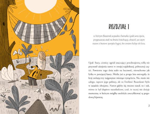Wnętrze książki Moniki Krauze, ilustracje Jerzy Kozień