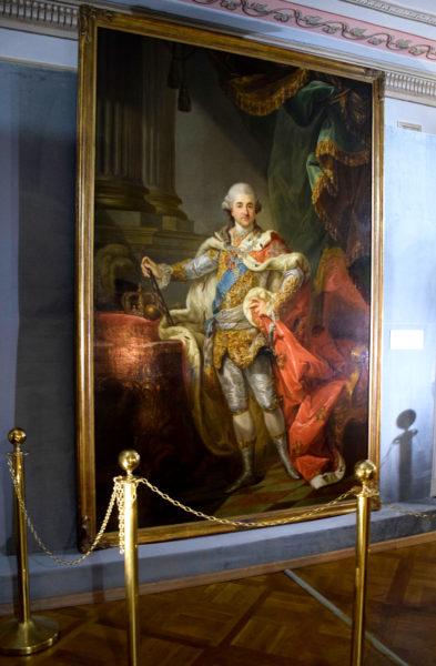 Portret króla Stanisława Augusta Poniatowskiego pędzla Marcello Bacciarellego, fot. Muzeum Ziemiaństwa w Dobrzycy