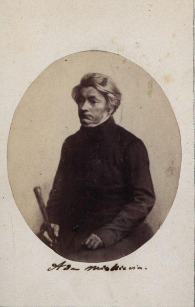 Adam Mickiewicz około 1861-67, fot. Polona