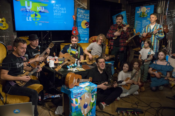Cały Poznań Ukulele 2020, studio festiwalowe, fot. Piotr Rychter