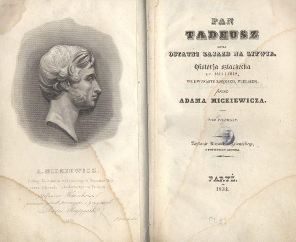 Pan Tadeusz, wydanie I, Paryż 1835