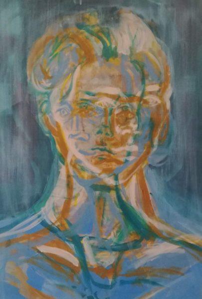 Daria Antkiewicz, akryl, ok 50x80cm I rok malarstwo, IV Pracownia Malarstwa, I Katedra Malarstwa, Wydział Malarstwa i Rysunku