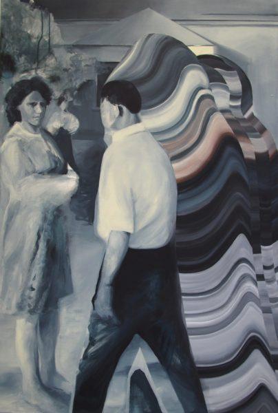 Monika Szczygieł, bez tytułu, 150 x 100 cm, akryl, XII Pracownia Malarstwa, II Katedra Malarstwa, Wydział Malarstwa i Rysunku