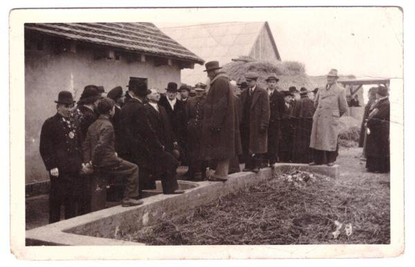 Wizyta prezydenta Ignacego Mościckiego na terenach parcelacyjnych pod Wronkami, październik 1938, fot. Muzeum Zamek Górków w Szamotułach