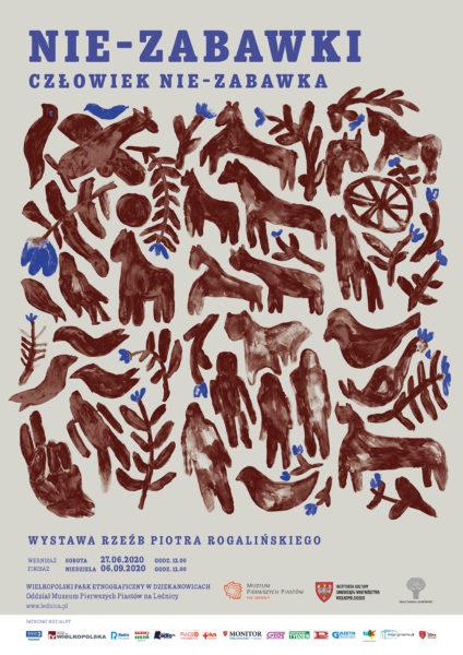 Plakat, Nie-zabawki, wystawa Piotra Rogalińskiego