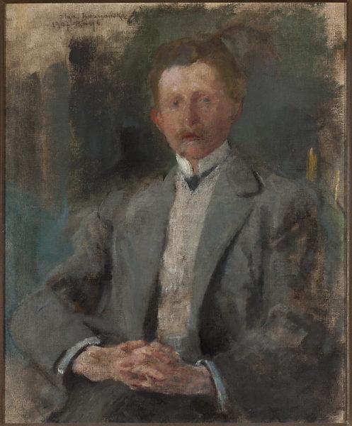 Obraz Olgi Boznańskiej - portret Ludwika Pugeta, namalowany około 1907, Muzeum Narodowe w Warszawie