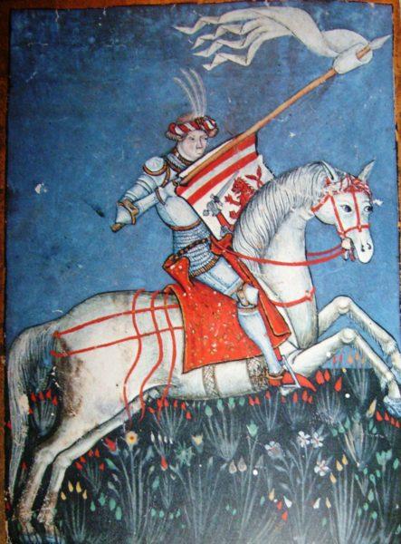 Hrvoje Vukčić Hrvatinić, całostronicowa miniatura z Mszału Hrvoja z 1404 roku, materiały udostępnione przez autora