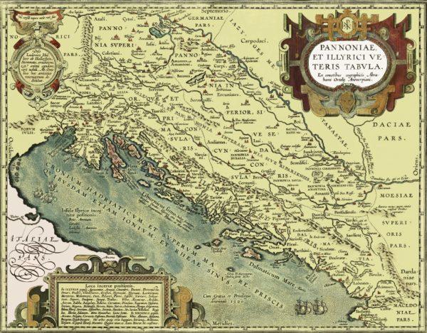 Mapa Chorwacji z 1603 roku, materiały udostępnione przez autora