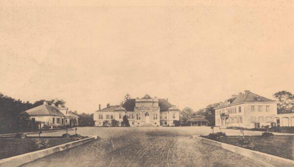 """Pałac Kwileckich w Dobrojewie, L. Durczykiewicz: """"Dwory polskie w Wielkiem Księstwie Poznańskiem"""", Polona"""