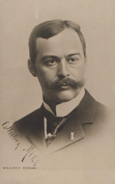 Portret Wojciecha Kossaka, około 1901, fot. Polona