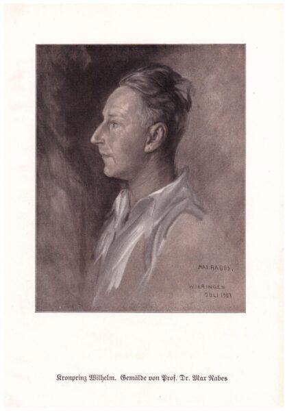 Max Rabes, Cesarz Wilhelm II, reprodukcja, fot. Muzeum Zamek Górków Szamotuły