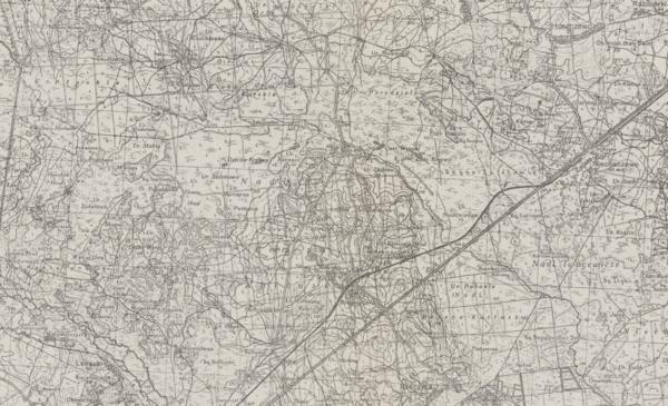 Pocztówka z mapą Berezy Kartuskiej, fot. Polona
