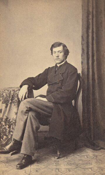 Portret Józefa Kościelskiego około 1865, fot. Polona