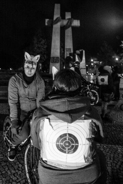 25 październik 2016 - demonstracja w obronie praw zwierząt, Plac Mickiewicza w Poznaniu