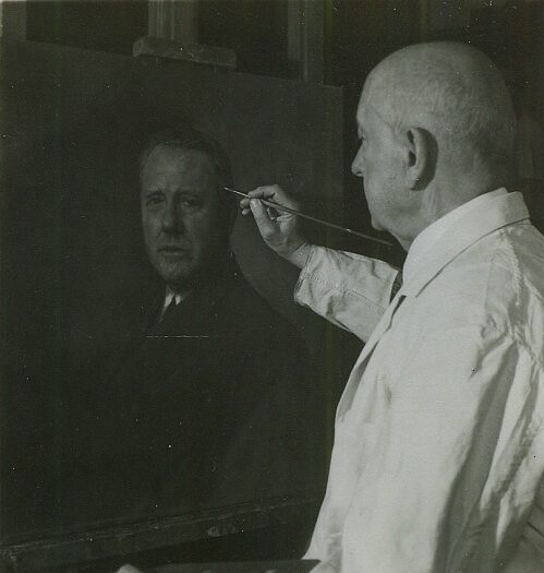 Max Rabes przy pracy, fot. z zasobów Deutsche Fotothek