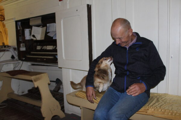 Pan Miecio i pies Bączek, fot. Marta Konek