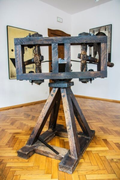 Balista - machina miotająca wykonana przez Jerzego Jurgę, fot. Sławomir Radziejewski