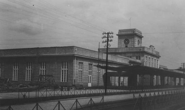 Dorzec w Zbąszyniu w roku 1929, fot. Narodowe Archiwum Cyfrowe