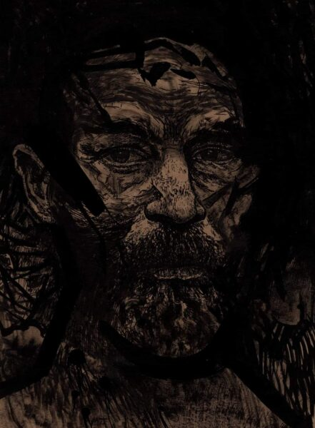 Rysunek Krzysztofa Schodowskiego wykorzystany na okładce debiutanckiego tomu