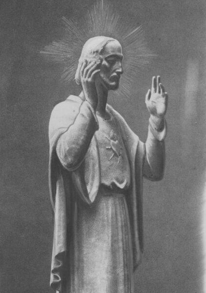 Figura Chrystusa pomnika Wdzięczności (ku czci Najświętszego Serca Jezusowego), fot. Narodowe Archiwum Cyfrowe