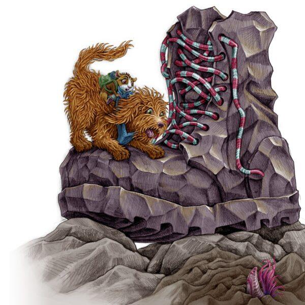 Pomnik Glana, ilustracja Alicji Kocurek