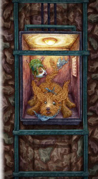 Winda, ilustracja Alicji Kocurek