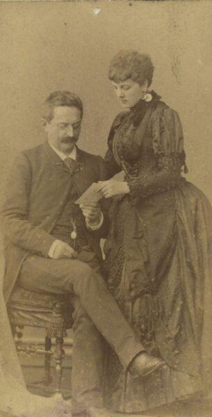 Heliodor Święcicki z żoną Heleną z Dąbskich 1885-1890, fot. Cyryl