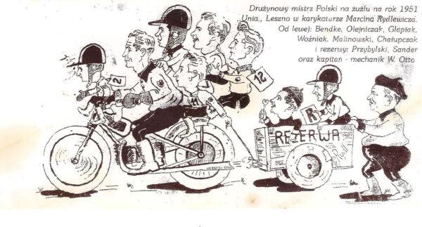 Karykatura z roku 1951, fot. ze zbiorów Wojciecha Przybylskiego
