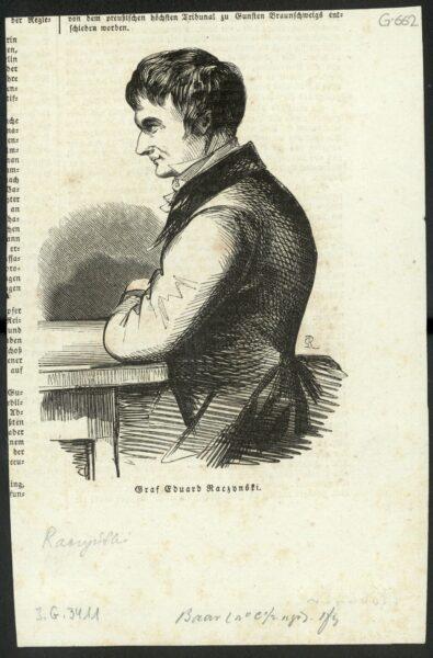 Portret Edwarda Raczyńskiego, fot. Polona