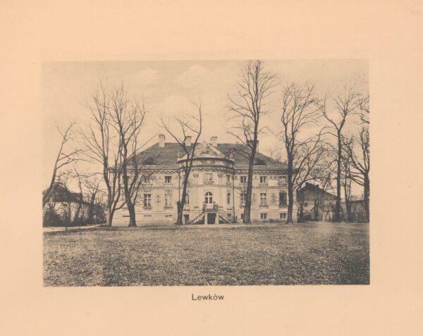 Pałac w Lewkowie, ok 1912 fot. za Dwory Polskie w Wielkim Księstwie Poznańskim, Leonard Duczykiewicz, fot. Polona