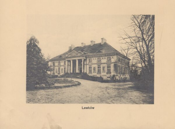 Pałac w Lewkowie około roku 1912, Dwory Polskie w Wielkim Księstwie Poznańskim, Leonard Duczykiewicz, fot. Polona