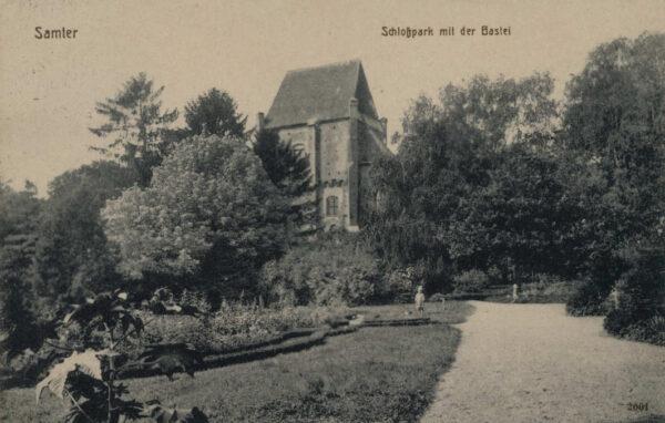 Baszta przed rokiem 1918, pocztówka ze zbiorów szamotulskiego muzeum