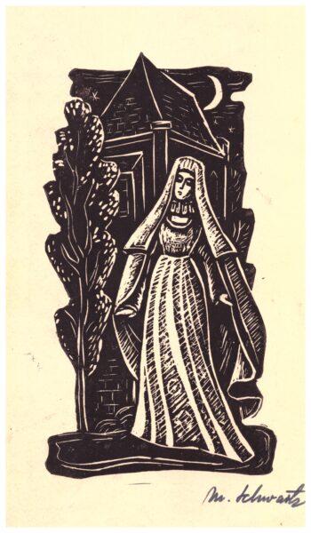 Halszka, grafika ze zbiorów szamotulskiego muzeum