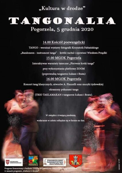 Plakat TANGONALIA ON LINE projekt: M. Szulc, fot: K. Fabiański