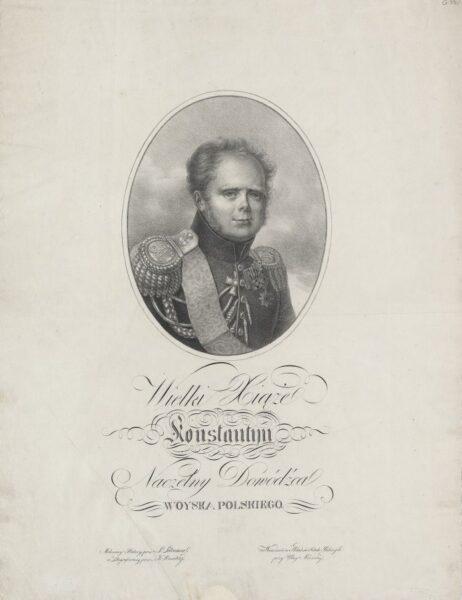Portret księcia Konstantego pędzla Józefa Sonntaga, fot. zbiory prywatne Emiliana Prałata