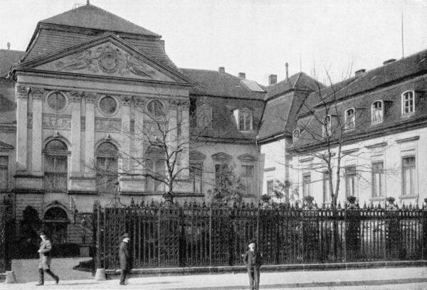 Pałac Radziwiłłowski w Berlinie około roku 1895, fot. Wikipedia