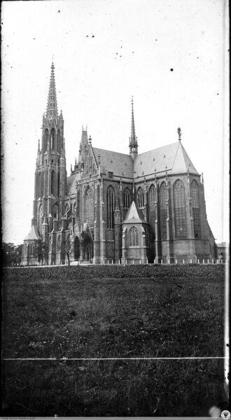 Kościół św. Michała Archanioła we Wrocławiu tuż po zakończeniu prac budowlanych, Hermann Krone, fot. z archiwum autora