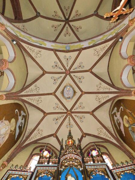 Sklepienie nawy głównej kościoła w Wyskoci wg projektu Langera, fot. Emilian Prałat