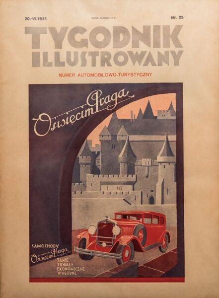 reklama samochodu Oświęcim-Praga w Tygodniku Ilustrowanym, 1931, fot. ze zbiorów NAC