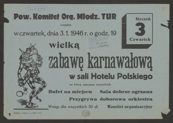 Afisz reklamowy Hotelu Polskiego, fot. domena publiczna