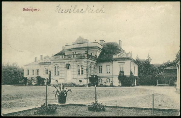 Dobrojewo (ok, pałac Kwileckich około 1910 r., fot. Polona