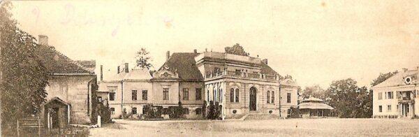 Dobrojewo, zespół pałacowy około roku 1910, fot. ze zbiorów P. Przewoźnego