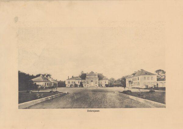 Dobrojewo, pałac Kwileckich około roku 1911, L. Durczykiewicz, Dwory Polskie w Wielkim Księstwie Poznańskim, fot. Polona