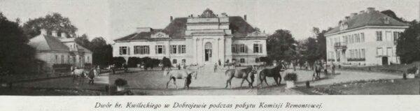 Dobrojewo, zespół pałacowy około roku 1929, Teatr i Życie Wytworne, nr 4 z 1929, Mazowiecka Biblioteka Cyfrowa