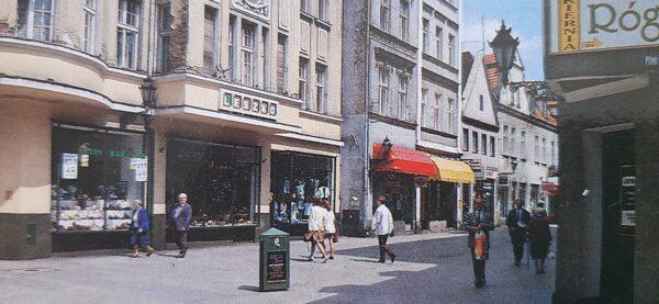 Fragment pocztówki z Hotelem Leszko, reprodukcja M. Gołembka