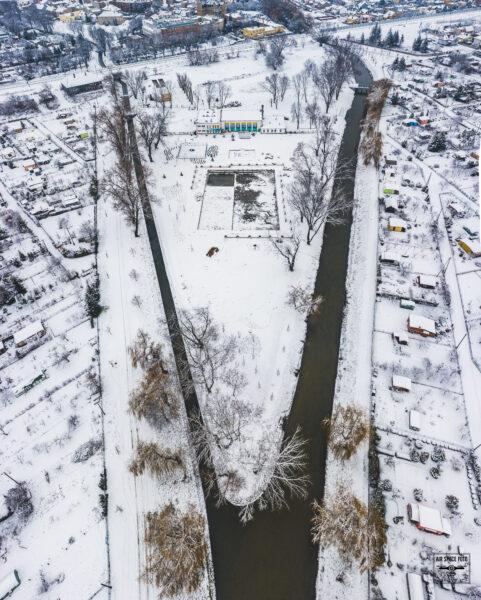 Kanał Obry przy ''Łazienkach'' w Kościanie, fot. Piotr Nędzewicz